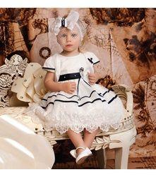 Σετ Φόρεμα-Μπολερό-Καπέλο Βάπτισης