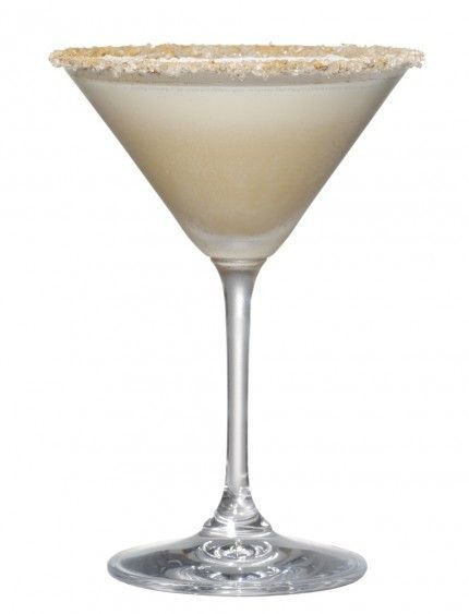 Holiday Cocktail: Turtle Dove...vanilla vodka, hazelnut liqueur, amaretto, cream...rimmed in cinnamon and sugar crystals.