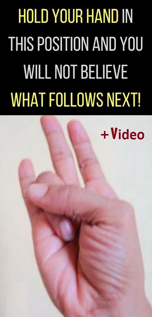 Hold Your Hand In This Position And You Will Not Believe What Follows Next! (VIDEO)