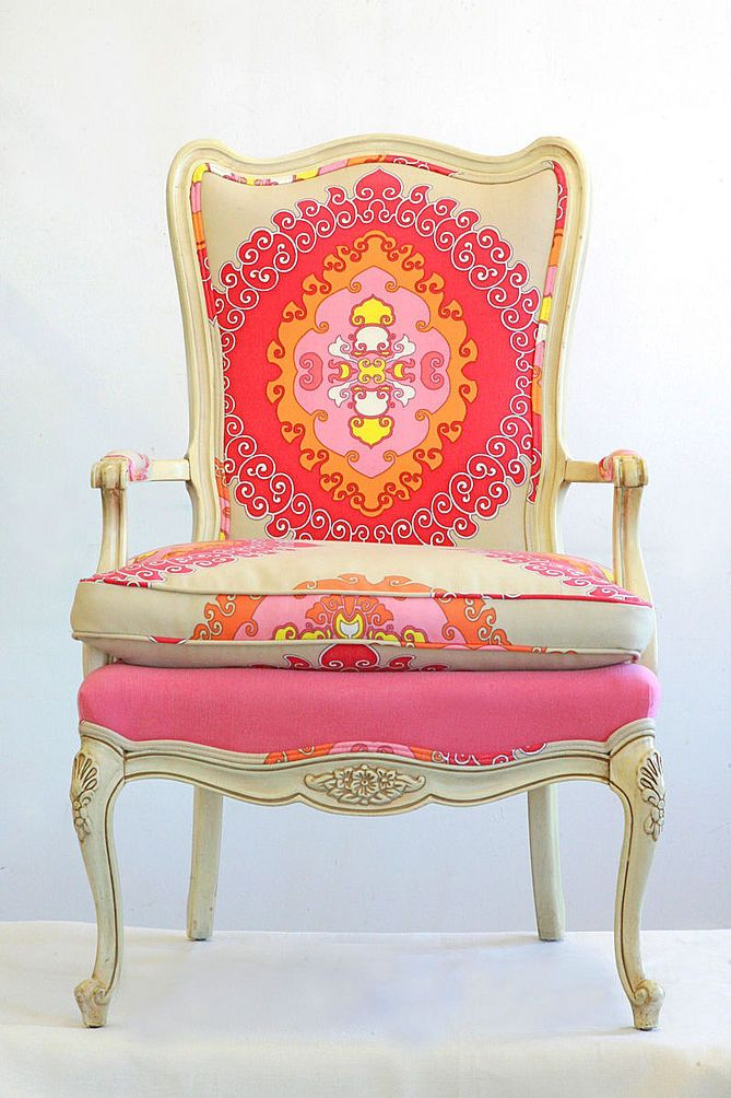 "I wish i could have just one ""girly"" thing in my house! MY CHAIR!"
