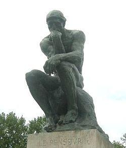 De denker is iemand die hard nadenkt over iets. Ik doe dat ook regelmatig.