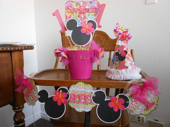 Minnie Mouse DIY Luau1st Birthday Party by ASweetCelebration, $75.00
