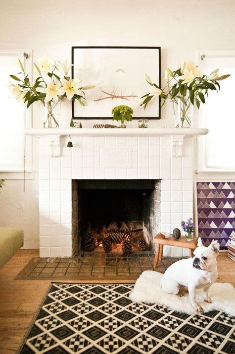 Gorgeous fireplace via design*sponge