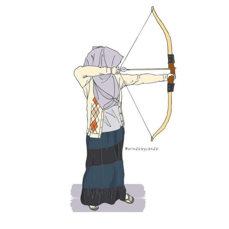 @windaayuanda @by_windaayuanda #illustration #islam #muslim #muslimah #kartunmuslimah #muslimfashion #urbanoutfit #bekind #doodle #drawing #hijab #hijabfashion #art #design #cartoon #scetch #archery