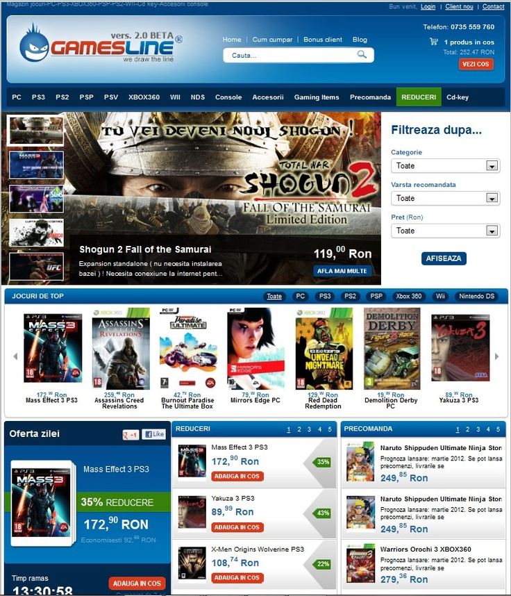GamesLine.ro, proiectul de suflet  |     https://twitter.com/#!/GamesLine  |  https://www.facebook.com/GamesLine  |  http://pinterest.com/gamesline/  https://plus.google.com/b/115084205214077203439/