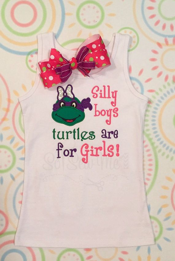 The Cutest Lil' Teenage Mutant Ninja Turtle Shirt for by SoSewMe1