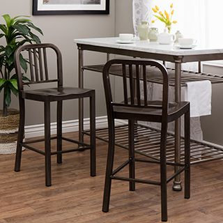 This set of vintage metal counter stools adds an elegant look to your living…