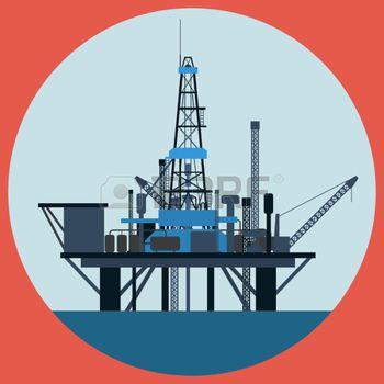 plateforme: Plate-forme pétrolière vecteur plat illustration                                                                                                                                                                                 Plus