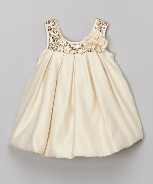 Look at this Champ Sequin Bubble Dress - Infant, Toddler