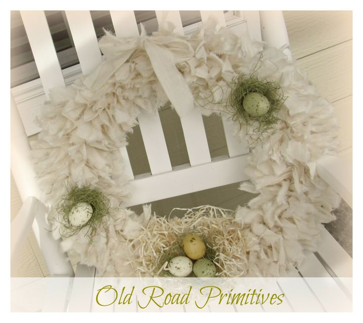 Old Road Primitives: ***NEW*** ~Spring Thyme~ Rag Wreath Tutorial from ORP...