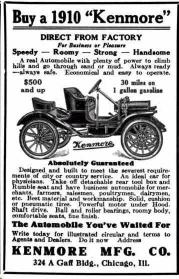 Car Brands With D >> 1910 Kenmore Automobile Advertisement | Unusual Old Car Ads, Rare Brands | Pinterest | Cars and ...