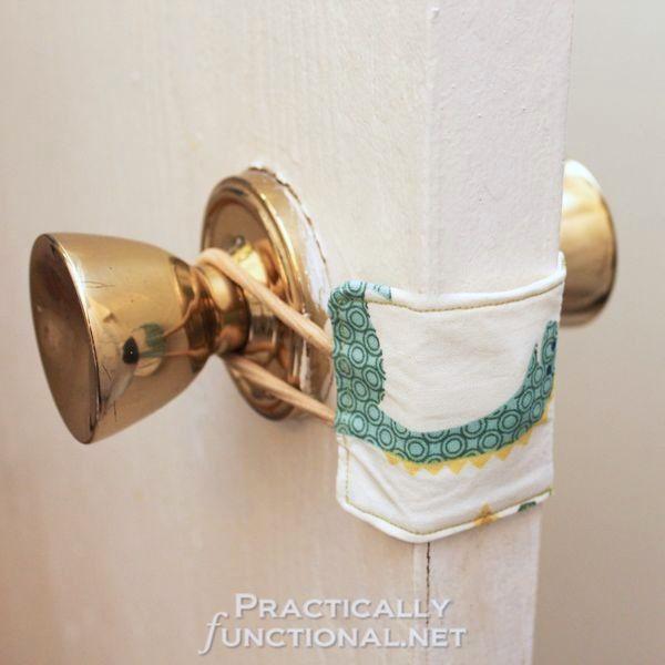 How-To: Nursery Door Latch Cover...works great for a classroom door too!