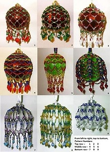 Beaded Christmas Ornament Cover Patterns - Choose 3 Beading Tutorials ...