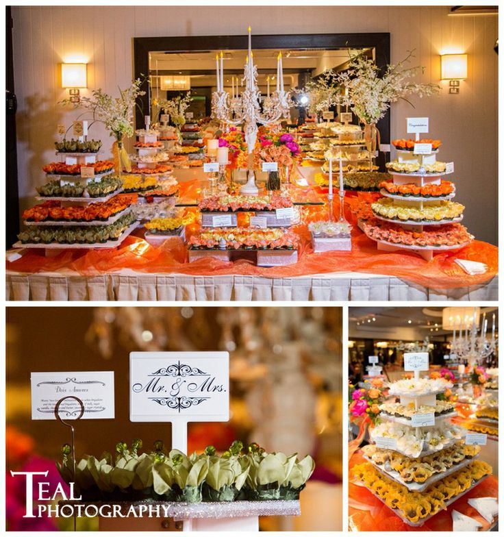 Beautiful and delicious! Anne & Marcelo's #wedding #reception – Weber's Inn Ann Arbor, Michigan. Photo by Teal Photography.