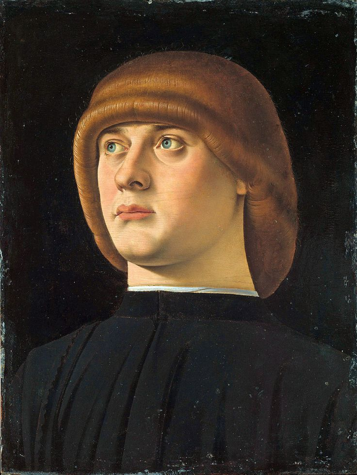 Portrait of a Young Man by Jacometto Veneziano (1472 - 1497)