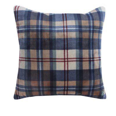 Vellux Ethan Plush Sherpa Plaid Throw Pillow Plaid Throw Pillows Plaid Decorative Pillows Pillows