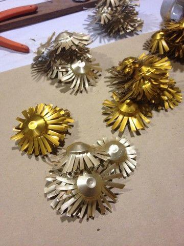 Ausralian wild flowers made from Nesresso coffee pods