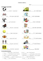 English worksheet: present sinple exercise