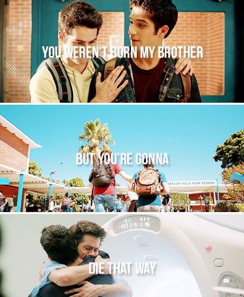 'you weren't born my brother, but your gonna die that way.'