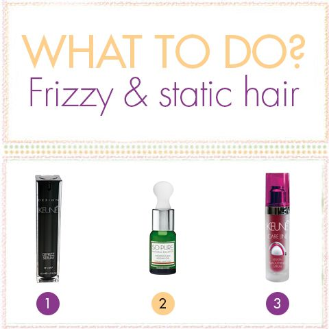 Keune products for frizzy and static hair