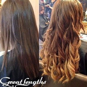 38 best great lengths hair extensions images on pinterest great brunette brown colour with blonde ombre highlights great lengths hair extensions before and after pmusecretfo Gallery