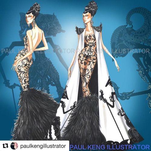 #Repost @paulkengillustrator with @repostapp Wayang Fashion #inspiration (at…
