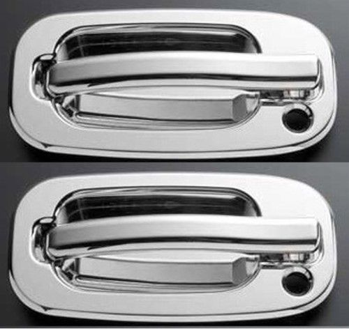 All Sales 900 Exterior Door Handle Assembly Polished Set Of 2 For Lh Driver Side W Key Lock Hole Rh Passenger Side W Key Lock Hole Aluminum Exterior Door Handles Door Handles Chrome