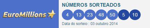 #resultados #loteria #Euromillions 06/10/2014