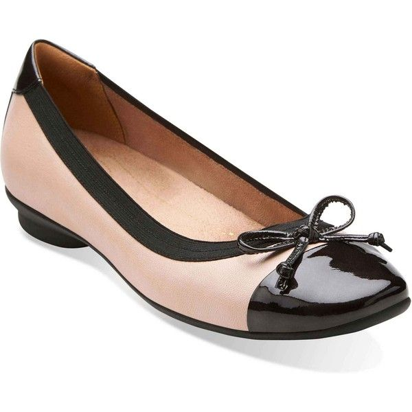 Clarks Artisan Candra Glow Flats in Nude Leather