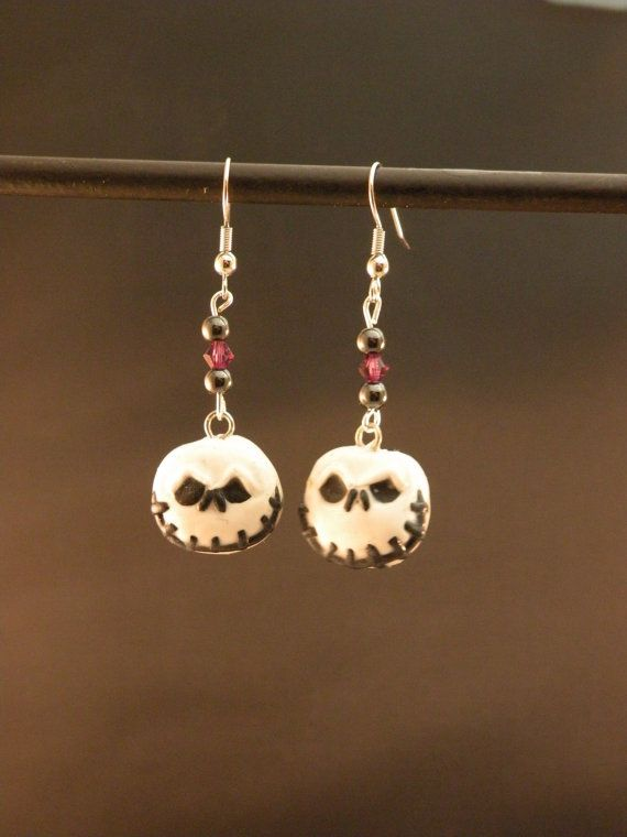Nightmare Before Christmas Jack Earrings by MadHouseTrinkets, $15.00