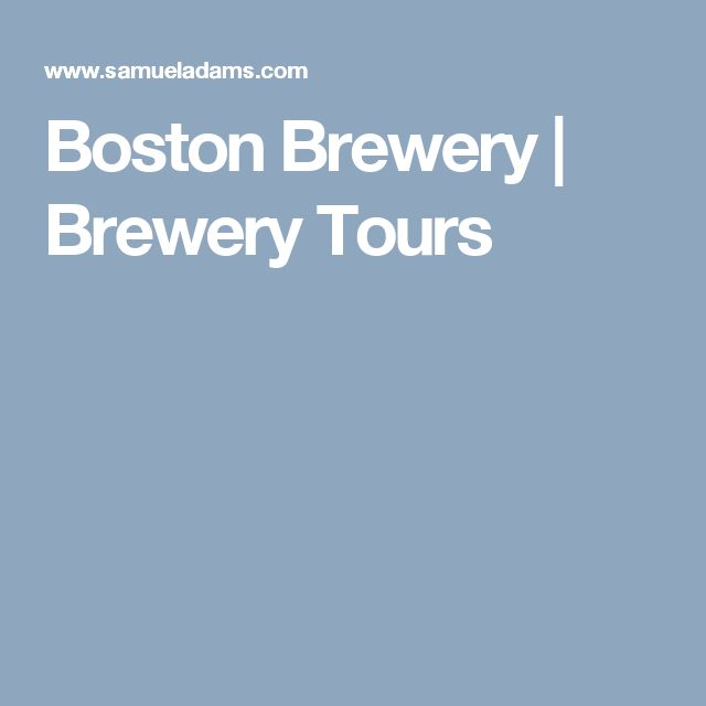 Boston Brewery | Brewery Tours