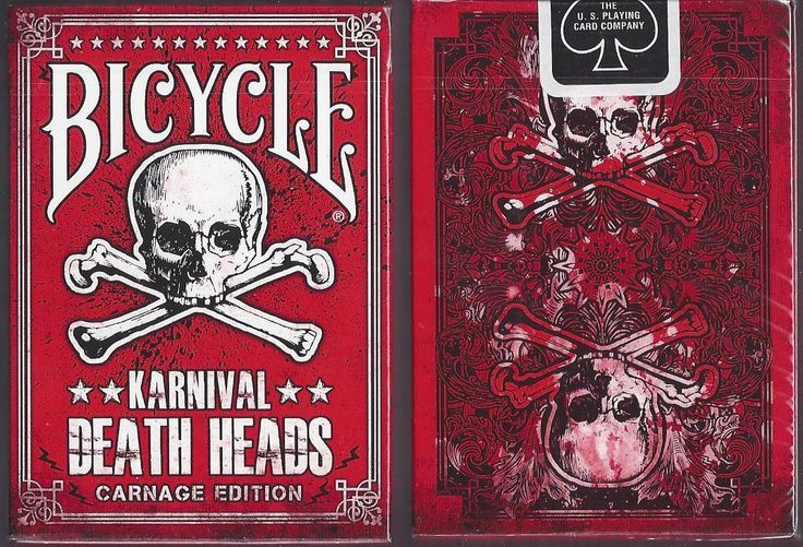 1 Deck Karnival Death Heads Carnage Non Plastic Playing Cards | eBay