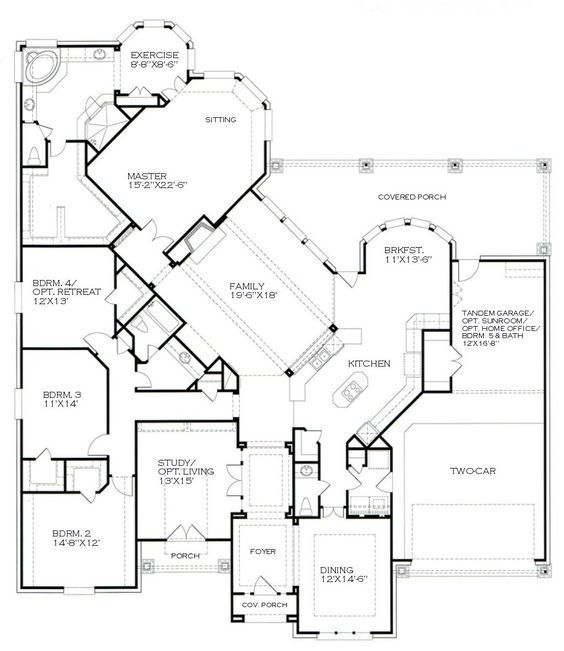 Kind Of Obsessed With This One Story Floor Plan Building Plansbuilding Ideashouse