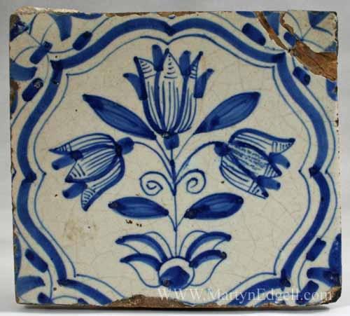 Dutch delft tile, circa 1700