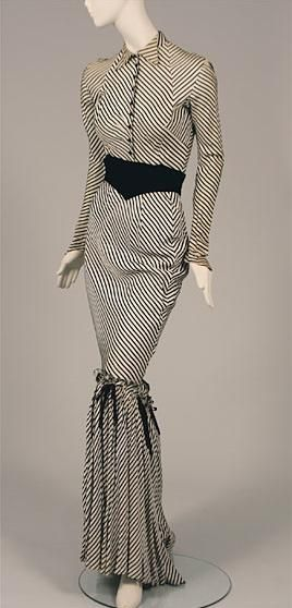 Synthetic crepe costume worn by Gypsy Rose Lee, c. 1940's.  Museum of the City of New York.