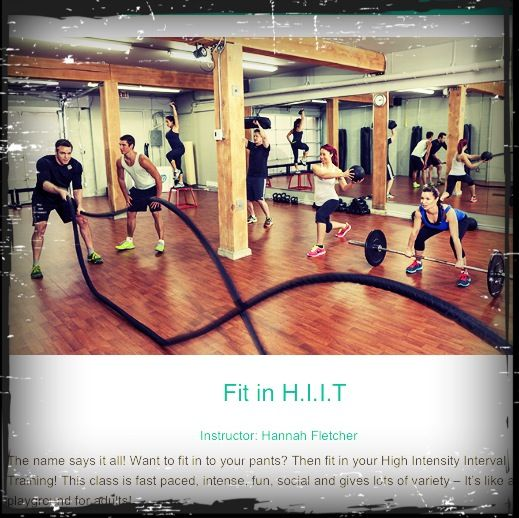 Fit in H.I.I.T energetic class that will get the most of your effort on losing and toning!
