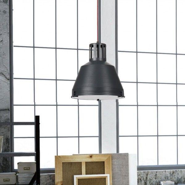 Czarna #lampa wisząca industrialna / Black industrial hanging lamp #loft