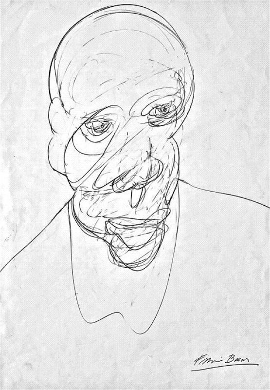 Francis Bacon, Pencil on Paper