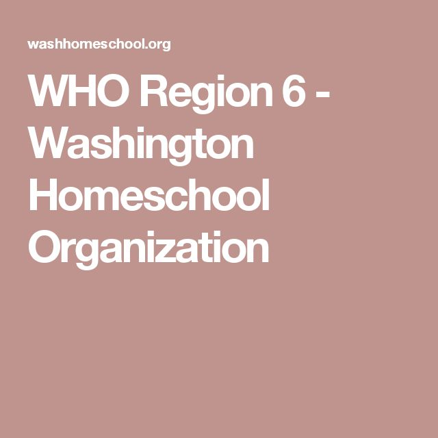 WHO Region 6 - Washington Homeschool Organization