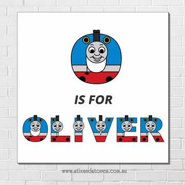 Thomas the Tank Engine Personalised Name Plaque canvas for kids wall art…