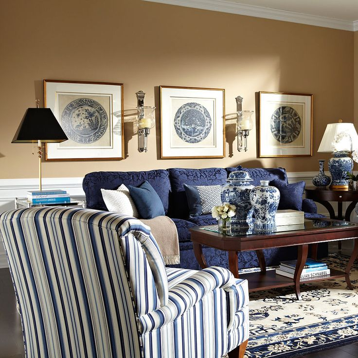 Living Rooms  Like the colors.  Would choose less traditional style.