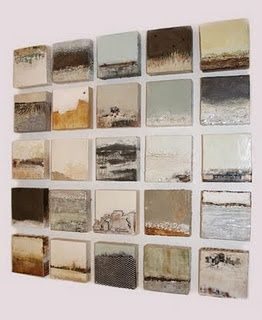 """Robin Luciano Beaty """"Remains to Be Seen"""" (25 panels- encaustic, mixed media, vin…"""