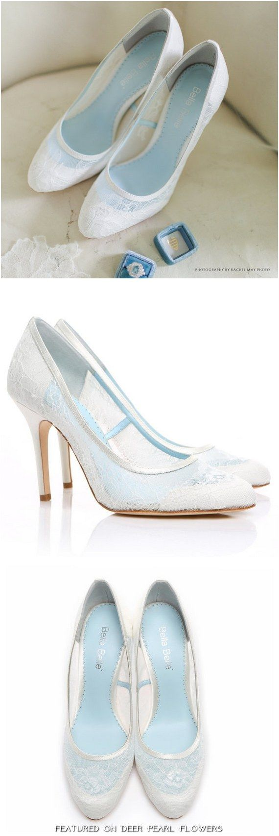 Chantilly Lace Wedding Shoes Closed Toe Pumps / http://www.deerpearlflowers.com/vintage-lace-wedding-shoes/2/