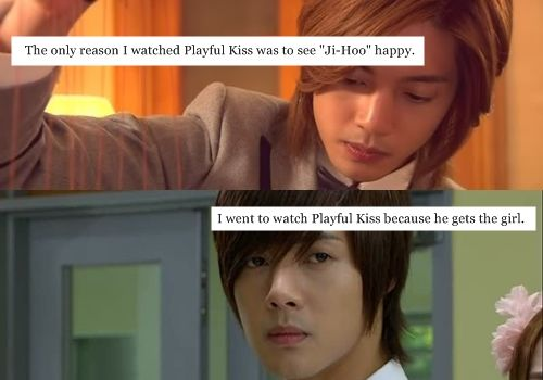 K-Drama Confessions. So glad I'm not the only one who did this. I seriously wouldn't even have finished Playful Kiss if it wasn't for JiHoo. >.