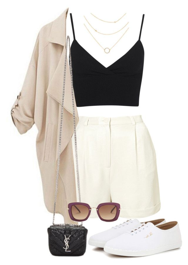 """""""Untitled #3530"""" by camilae97 ❤ liked on Polyvore featuring Miss Selfridge, CO, Yves Saint Laurent, The Row and Miu Miu"""