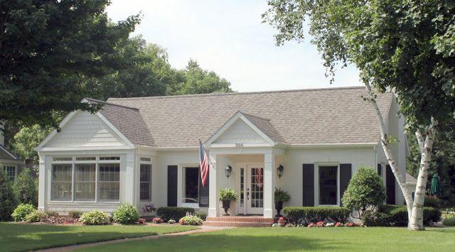 white brick ranch house - Google Search