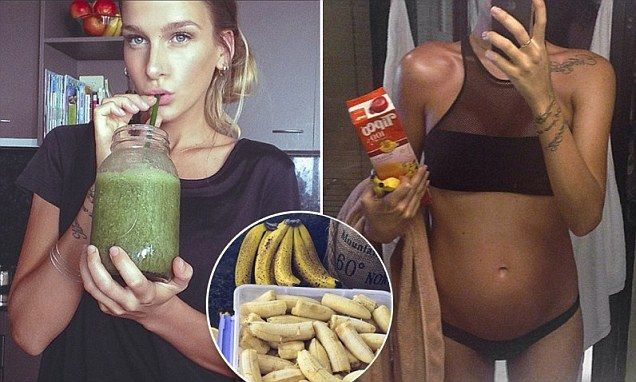 Loni Jane Anthony, 25, from Australia, reveals on her blog Aleven:11 that she eats up to twenty bananas per day, raw and in smoothies.