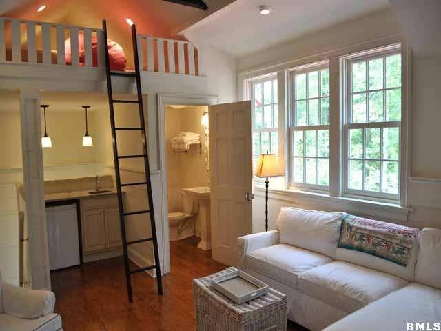 Garage Apartment Ideas cute efficiency apartment above a garage! | small spaces