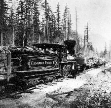Canadian-Pacific railcar, from the British Columbia