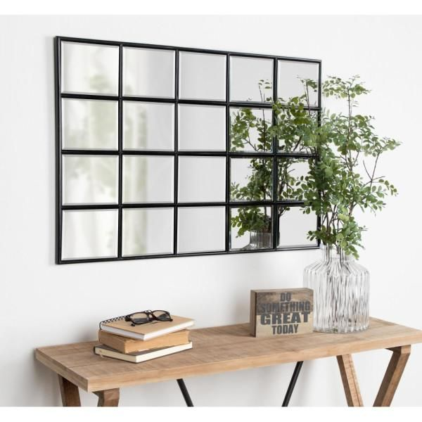 Kate And Laurel Medium Rectangle Black Beveled Glass Contemporary Mirror 35 4 In H X 23 6 In W 213667 The Home Depot In 2020 Dining Room Mirror Wall Wall Mirror Decor Living Room Mirror Dining Room #rectangle #living #room #mirror
